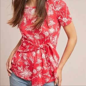 MAEVE By Anthropologie Sherbrooke Tie Front Top